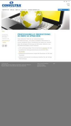 Vorschau der mobilen Webseite www.consultra.ch, Consultra AG