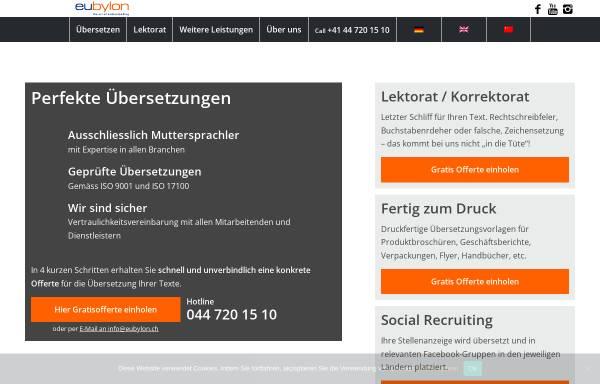 Vorschau von www.eubylon.ch, Eubylon GmbH