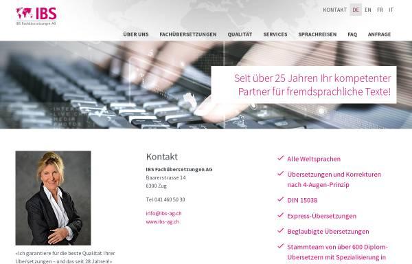 Vorschau von www.ibs-ag.ch, IBS Business Services AG