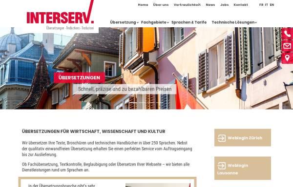Vorschau von www.interserv.ch, Interserv AG