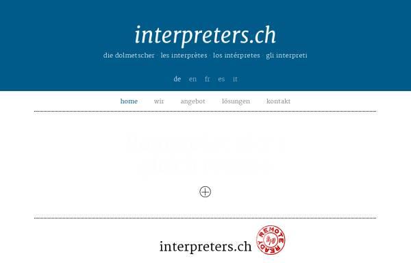 Vorschau von www.interpreters.ch, Interpreters
