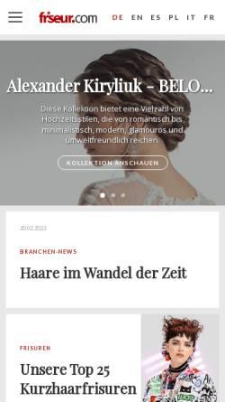 Vorschau der mobilen Webseite www.friseur.com, Friseur.com - Armin Burkart