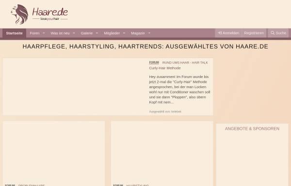 Vorschau von www.haarforum.de, HaarForum