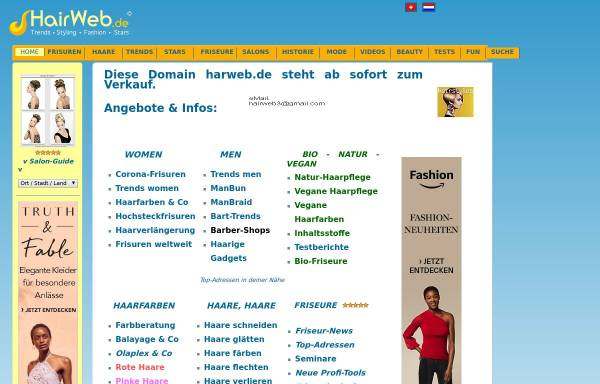 Vorschau von www.hairweb.de, Hairweb