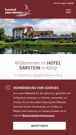 Vorschau der mobilen Webseite www.hotel-darstein.de, Hotel Darstein
