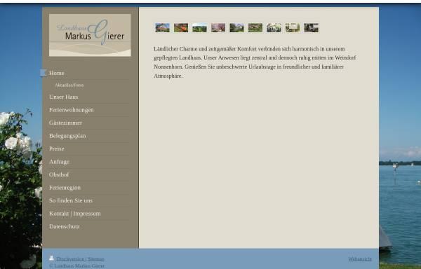 Vorschau von www.landhaus-markus-gierer.de, Ferienwohnungen und Gästezimmer Familie Markus Gierer