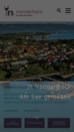 Vorschau der mobilen Webseite www.nonnenhorn.eu, Nonnenhorn