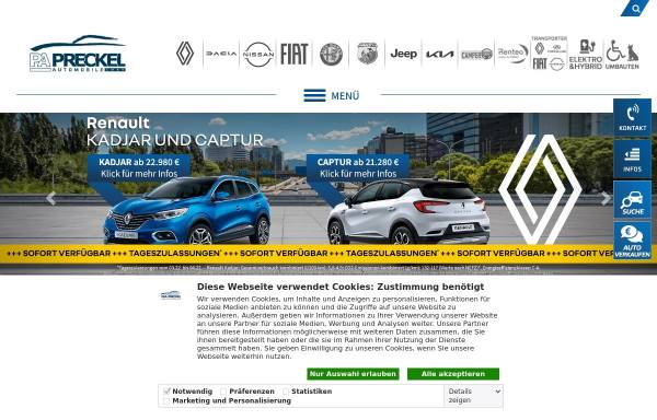 Vorschau von www.autozentren-pa.de, Autozentrum P&A - Preckel