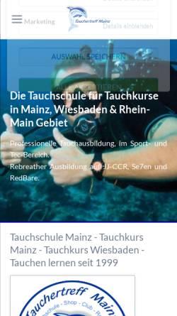 Vorschau der mobilen Webseite www.tauchertreff-mainz.de, Tauchertreff Mainz