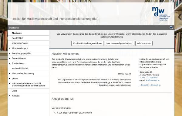 Vorschau von www.mdw.ac.at, Institut für Analyse, Theorie und Geschichte der Musik