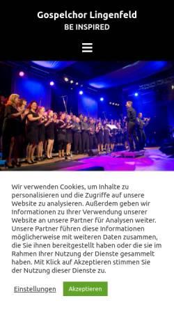Vorschau der mobilen Webseite www.gospelchor-lingenfeld.de, Gospelchor Lingenfeld