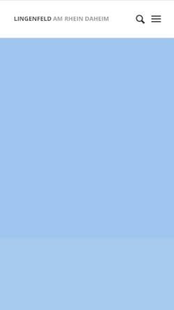 Vorschau der mobilen Webseite www.lingenfeld.de, Ortsgemeinde Lingenfeld