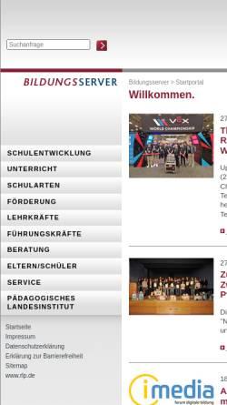 Vorschau der mobilen Webseite www.rgs-lingenfeld-lustadt.bildung-rp.de, Regionale Schule Lingenfeld/Lustadt
