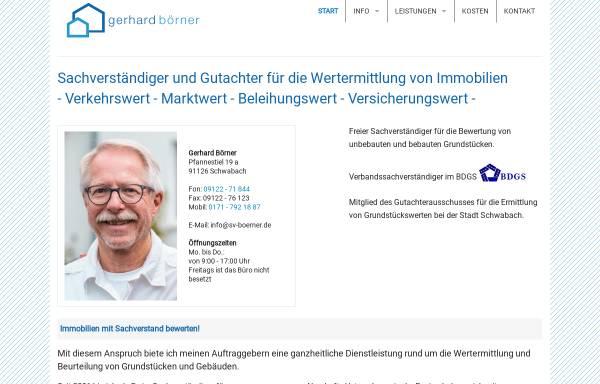Vorschau von www.sachverstaendigenbuero-boerner.de, Börner, Gerhard