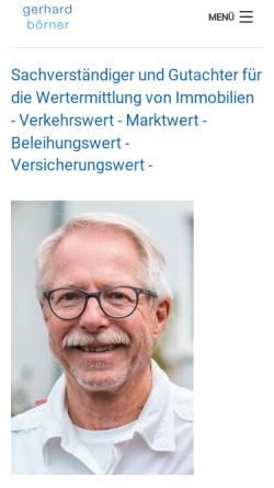 Vorschau der mobilen Webseite www.sachverstaendigenbuero-boerner.de, Börner, Gerhard