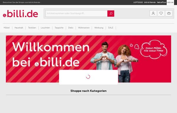 Vorschau von www.billi.de, Billi Möbel Handels GmbH