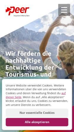 Vorschau der mobilen Webseite www.peer.biz, Peer internet solutions