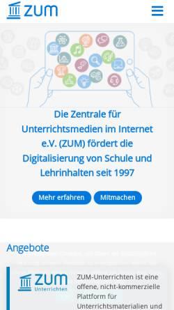 Vorschau der mobilen Webseite www.zum.de, Ausführungen über die Methode seine Vernunft gut zu gebrauchen