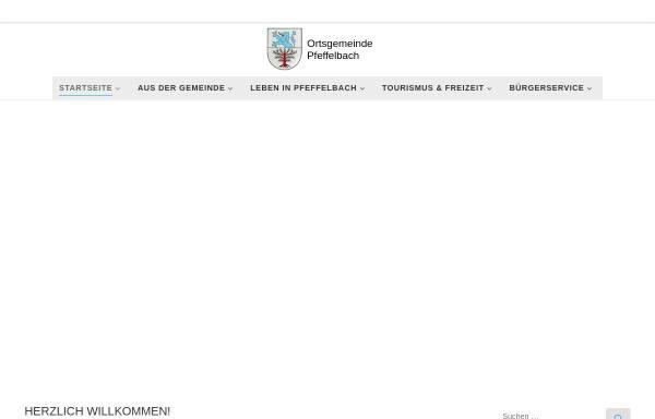 Vorschau von pfeffelbach.de, Pfeffelbach