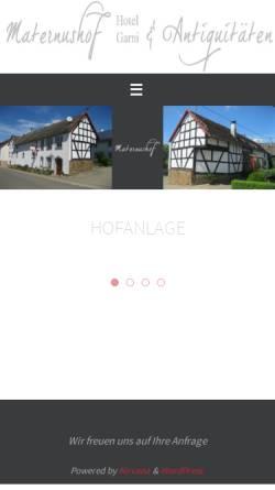 Vorschau der mobilen Webseite maternushof.com, Hotel Maternushof