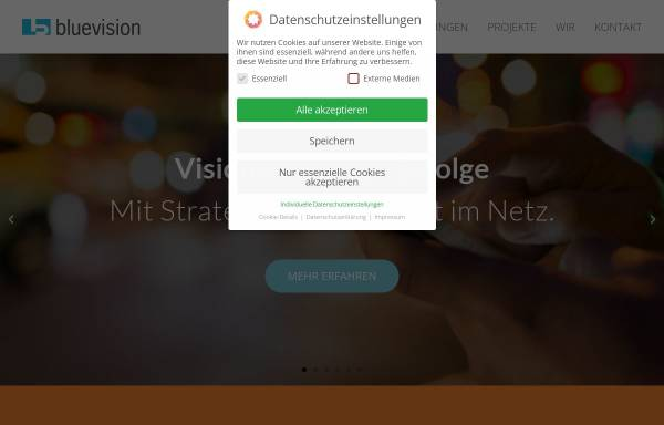 Vorschau von www.bluevision.de, BLUE VISION Internet & Multimedia GmbH