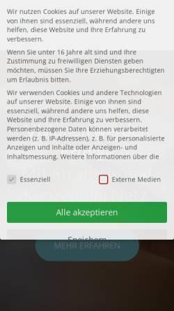 Vorschau der mobilen Webseite www.bluevision.de, BLUE VISION Internet & Multimedia GmbH