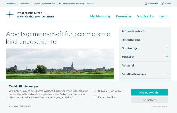 Vorschau von www.pommersche-kirchengeschichte-ag.de, Arbeitsgemeinschaft für pommersche Kirchengeschichte e.V.