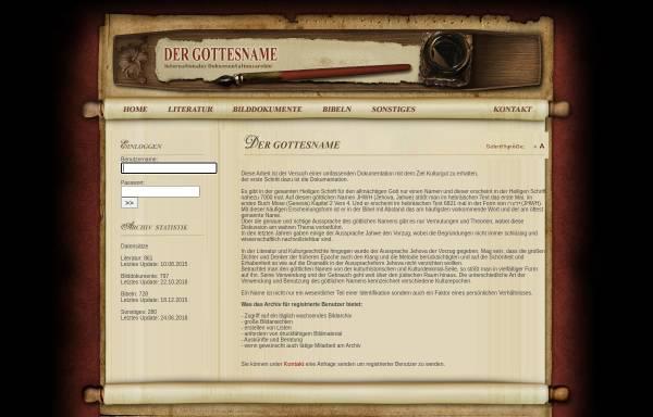 Vorschau von www.dername.org, Der göttliche Name