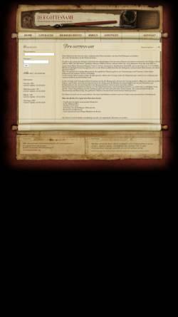 Vorschau der mobilen Webseite www.dername.org, Der göttliche Name