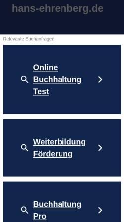 Vorschau der mobilen Webseite www.hans-ehrenberg.de, Hans Ehrenberg Gesellschaft