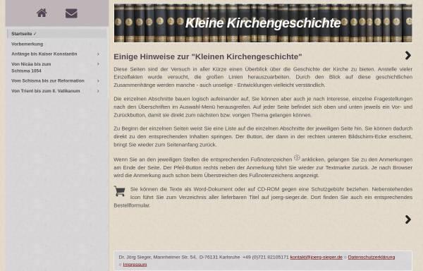 Vorschau von www.joerg-sieger.de, Kleine Kirchengeschichte