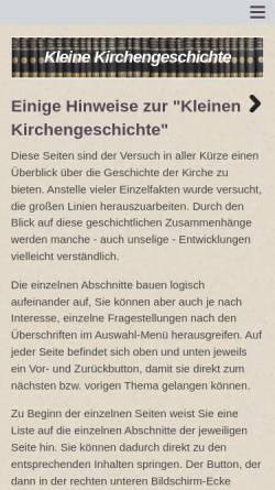 Vorschau der mobilen Webseite www.joerg-sieger.de, Kleine Kirchengeschichte