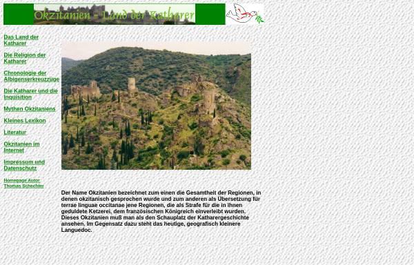 Vorschau von www.okzitanien.de, Land der Katharer