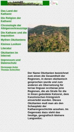 Vorschau der mobilen Webseite www.okzitanien.de, Land der Katharer
