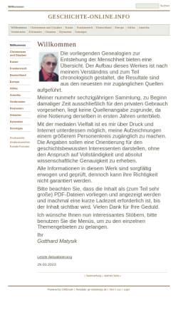 Vorschau der mobilen Webseite www.geschichte-online.info, Welt- und Kirchengeschichte auf geschichte-online.info