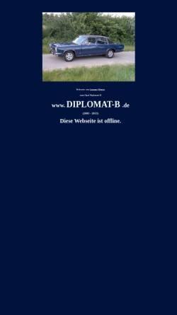 Vorschau der mobilen Webseite www.diplomat-b.de, Diplomat B