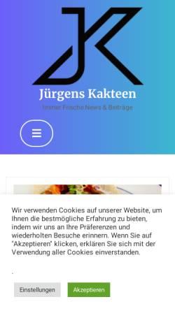 Vorschau der mobilen Webseite www.juergens-kakteen.de, Jürgens Kakteen