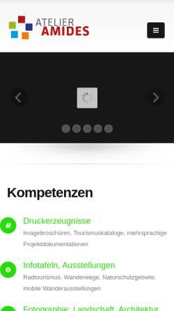 Vorschau der mobilen Webseite www.amides.com, Amides Atelier für Multimedia- und Informationsdesign Andreas Mischke