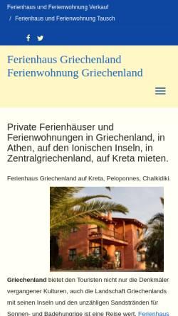 Vorschau der mobilen Webseite www.ferienhaus-privat.de, Ferienvilla Sophia