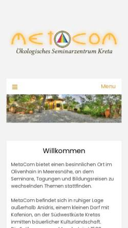Vorschau der mobilen Webseite www.meta-com.de, MetaCom, Paleohora