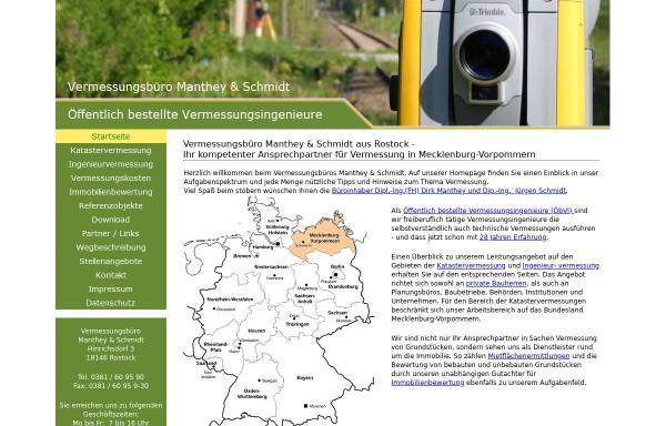 Vorschau von www.wertermittlung24.de, Manthey & Schmidt Vermessungsbüro