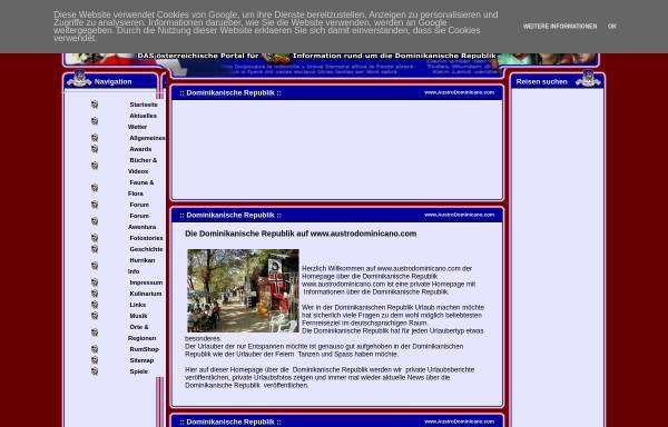 Vorschau von www.austrodominicano.com, Austro Dominicano