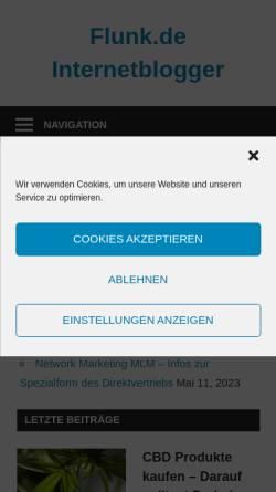 Vorschau der mobilen Webseite www.flunk.de, Die Dominikanische Republik