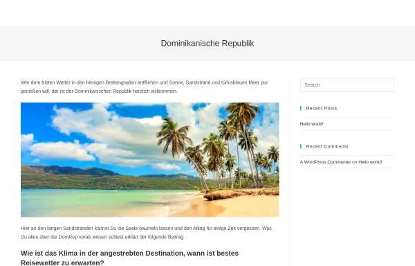 Vorschau von www.dominikanische-republik2001.de, Dominikanische Republik 2001