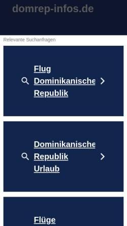 Vorschau der mobilen Webseite www.domrep-infos.de, DomRep-Infos.de