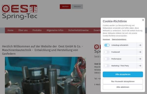 Vorschau von www.oest-gmbh.de, Oest GmbH & Co. Maschinenbautechnik