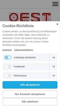 Vorschau der mobilen Webseite www.oest-gmbh.de, Oest GmbH & Co. Maschinenbautechnik