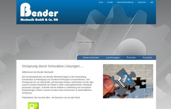 Vorschau von www.bender-mechanik.de, Bender Mechanik GmbH & Co. KG