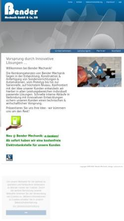 Vorschau der mobilen Webseite www.bender-mechanik.de, Bender Mechanik GmbH & Co. KG