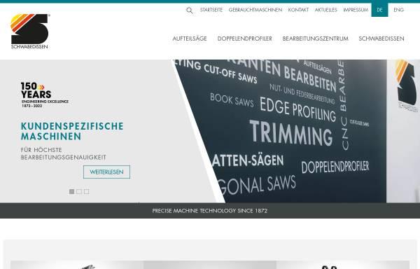 Vorschau von www.schwabedissen.de, Schwabedissen Maschinen + Anlagen GmbH